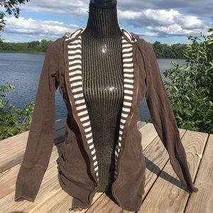 Gap body brown zipper hoodie